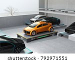 an automated guided vehicle ... | Shutterstock . vector #792971551