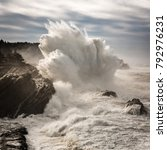 Crashing Waves Explode Off The...