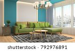 interior living room. 3d... | Shutterstock . vector #792976891