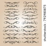 set of decorative elements... | Shutterstock .eps vector #792980875