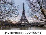 eiffel tower in paris france | Shutterstock . vector #792983941