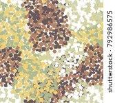 seamless autumn camouflage... | Shutterstock .eps vector #792986575