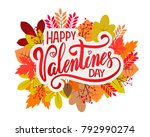 vector text happy valentines... | Shutterstock .eps vector #792990274