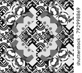 geometric black  white and gray ... | Shutterstock . vector #792998869