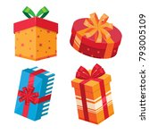 gift box vector | Shutterstock .eps vector #793005109