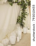wedding decorations and details ...   Shutterstock . vector #793010455