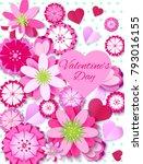 love background  love  heart ... | Shutterstock . vector #793016155