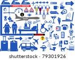 set of airport symbols | Shutterstock .eps vector #79301926