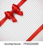 bow and red satin ribbon... | Shutterstock .eps vector #793020085