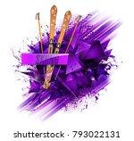 abstract backgrounds  ski sport ... | Shutterstock .eps vector #793022131