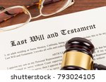 last will and testament on... | Shutterstock . vector #793024105