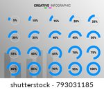 circle percentage performance... | Shutterstock .eps vector #793031185