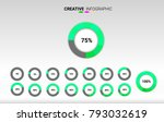 circle percentage performance... | Shutterstock .eps vector #793032619