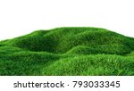 green grass field isolated on... | Shutterstock . vector #793033345