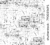 grunge texture. black and white ... | Shutterstock . vector #793035691