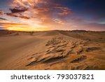 deserts and sand dunes... | Shutterstock . vector #793037821
