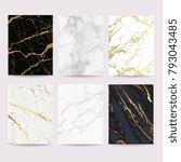 marble with golden texture...   Shutterstock .eps vector #793043485