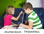 children are looking at the... | Shutterstock . vector #793044961