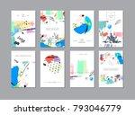 set of creative universal... | Shutterstock . vector #793046779
