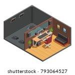 music studio isometric interior ... | Shutterstock . vector #793064527