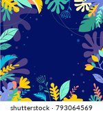 colorful  vibrant colors palm... | Shutterstock .eps vector #793064569