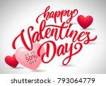 valentines day lettering for... | Shutterstock .eps vector #793064779