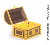 treasure chest  treasure with... | Shutterstock .eps vector #793067239