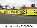 "Genuine ""sheriff\'s Line Do Not..."