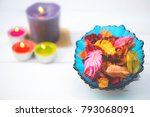 potpourri is a mixture of dried ... | Shutterstock . vector #793068091