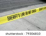 "genuine ""sheriff's line do not... 