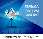 cinema festival. movie time... | Shutterstock .eps vector #793068229