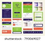 mobile apps screen elements set ...