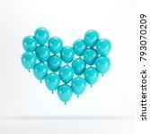heart shape made of blue...   Shutterstock . vector #793070209