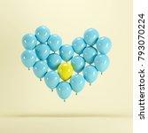 heart shape made of blue... | Shutterstock . vector #793070224