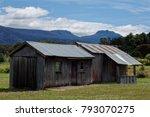 Rusty Shed Overlooking Mountai...