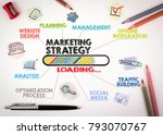 marketing strategy concept.... | Shutterstock . vector #793070767