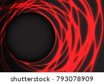 abstract red light weave on... | Shutterstock .eps vector #793078909