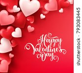 valentines day abstract... | Shutterstock .eps vector #793083445