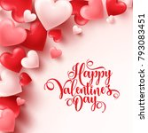 valentines day abstract... | Shutterstock .eps vector #793083451