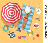 summer holidays on beach with...   Shutterstock .eps vector #793086565