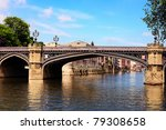 Famous Bridge And  River Ouse...