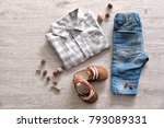 composition with fashionable...   Shutterstock . vector #793089331
