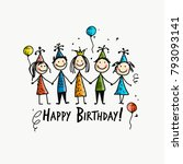 birthday party  postcard for... | Shutterstock .eps vector #793093141