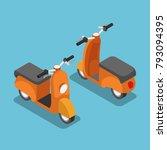flat 3d isometric orange...   Shutterstock .eps vector #793094395