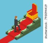 flat 3d isometric businessman... | Shutterstock .eps vector #793094419