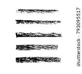 brush stroke set. chalk.... | Shutterstock .eps vector #793095517