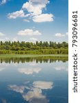 sky is reflected in the lake | Shutterstock . vector #793096681