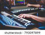 male musician playing midi... | Shutterstock . vector #793097899
