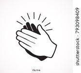 applause icon  illustration... | Shutterstock .eps vector #793098409