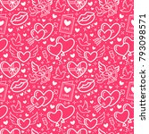 valentines day pink seamless... | Shutterstock .eps vector #793098571